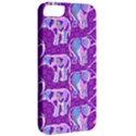 Cute Violet Elephants Pattern Apple iPhone 5 Classic Hardshell Case View2