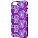 Cute Violet Elephants Pattern Apple iPhone 5 Classic Hardshell Case View3