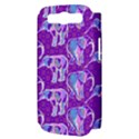 Cute Violet Elephants Pattern Samsung Galaxy S III Hardshell Case (PC+Silicone) View3