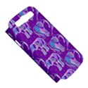 Cute Violet Elephants Pattern Samsung Galaxy S III Hardshell Case (PC+Silicone) View5