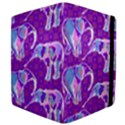 Cute Violet Elephants Pattern Apple iPad 2 Flip Case View4
