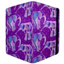 Cute Violet Elephants Pattern Apple iPad Mini Flip Case View4