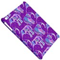 Cute Violet Elephants Pattern Apple iPad Mini Hardshell Case View5
