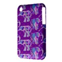 Cute Violet Elephants Pattern Apple iPhone 3G/3GS Hardshell Case (PC+Silicone) View3
