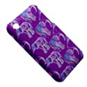 Cute Violet Elephants Pattern Apple iPhone 3G/3GS Hardshell Case (PC+Silicone) View5