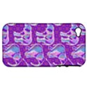 Cute Violet Elephants Pattern Apple iPhone 4/4S Hardshell Case (PC+Silicone) View1