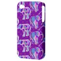 Cute Violet Elephants Pattern Apple iPhone 4/4S Hardshell Case (PC+Silicone) View3