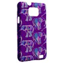Cute Violet Elephants Pattern Samsung Galaxy S II i9100 Hardshell Case (PC+Silicone) View2