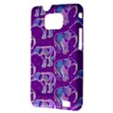Cute Violet Elephants Pattern Samsung Galaxy S II i9100 Hardshell Case (PC+Silicone) View3
