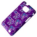 Cute Violet Elephants Pattern Samsung Galaxy S II i9100 Hardshell Case (PC+Silicone) View4