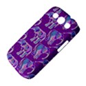 Cute Violet Elephants Pattern Samsung Galaxy S III Classic Hardshell Case (PC+Silicone) View4
