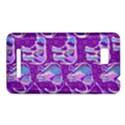 Cute Violet Elephants Pattern HTC One SU T528W Hardshell Case View1