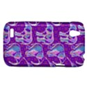 Cute Violet Elephants Pattern HTC Desire V (T328W) Hardshell Case View1