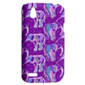 Cute Violet Elephants Pattern HTC Desire V (T328W) Hardshell Case View2