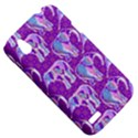 Cute Violet Elephants Pattern HTC Desire V (T328W) Hardshell Case View5