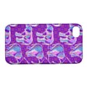 Cute Violet Elephants Pattern Apple iPhone 4/4S Hardshell Case with Stand View1