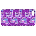 Cute Violet Elephants Pattern Apple iPhone 5 Hardshell Case with Stand View1