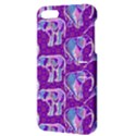 Cute Violet Elephants Pattern Apple iPhone 5 Hardshell Case with Stand View3