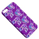 Cute Violet Elephants Pattern Apple iPhone 5 Hardshell Case with Stand View5
