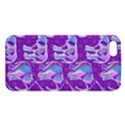 Cute Violet Elephants Pattern Apple iPhone 5 Premium Hardshell Case View1