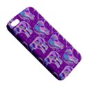 Cute Violet Elephants Pattern Apple iPhone 5 Premium Hardshell Case View5