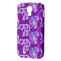Cute Violet Elephants Pattern Samsung Galaxy S4 I9500/I9505 Hardshell Case View3