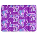 Cute Violet Elephants Pattern Samsung Galaxy Tab 7  P1000 Flip Case View1