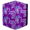 Cute Violet Elephants Pattern Samsung Galaxy Tab 10.1  P7500 Flip Case View4