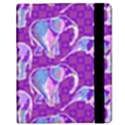 Cute Violet Elephants Pattern Samsung Galaxy Tab 8.9  P7300 Flip Case View2