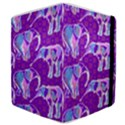 Cute Violet Elephants Pattern Samsung Galaxy Tab 8.9  P7300 Flip Case View4