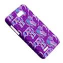 Cute Violet Elephants Pattern Motorola XT788 View5