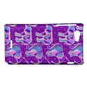 Cute Violet Elephants Pattern Sony Xperia J View1