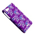 Cute Violet Elephants Pattern Sony Xperia J View5