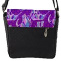 Cute Violet Elephants Pattern Flap Messenger Bag (S) View1