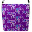 Cute Violet Elephants Pattern Flap Covers (S)  View1