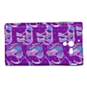 Cute Violet Elephants Pattern Sony Xperia ZL (L35H) View1