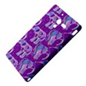 Cute Violet Elephants Pattern Sony Xperia ZL (L35H) View4
