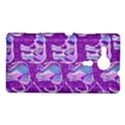 Cute Violet Elephants Pattern Sony Xperia SP View1