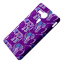 Cute Violet Elephants Pattern Sony Xperia SP View4