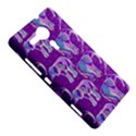 Cute Violet Elephants Pattern Sony Xperia SP View5