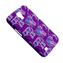 Cute Violet Elephants Pattern Samsung Galaxy Mega 6.3  I9200 Hardshell Case View5
