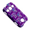 Cute Violet Elephants Pattern Samsung Galaxy S7710 Xcover 2 Hardshell Case View5