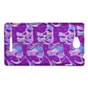 Cute Violet Elephants Pattern Sony Xperia C (S39H) View1