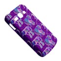 Cute Violet Elephants Pattern Samsung Galaxy Ace 3 S7272 Hardshell Case View5