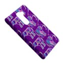 Cute Violet Elephants Pattern LG G2 View5
