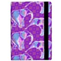 Cute Violet Elephants Pattern iPad Mini 2 Flip Cases View2