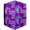 Cute Violet Elephants Pattern iPad Mini 2 Flip Cases View3