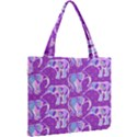 Cute Violet Elephants Pattern Mini Tote Bag View2