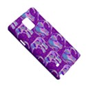 Cute Violet Elephants Pattern Samsung Galaxy Note 4 Hardshell Case View5
