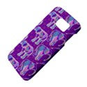 Cute Violet Elephants Pattern Galaxy S6 View4